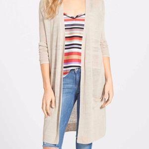 Linen blend cardigan Size XL